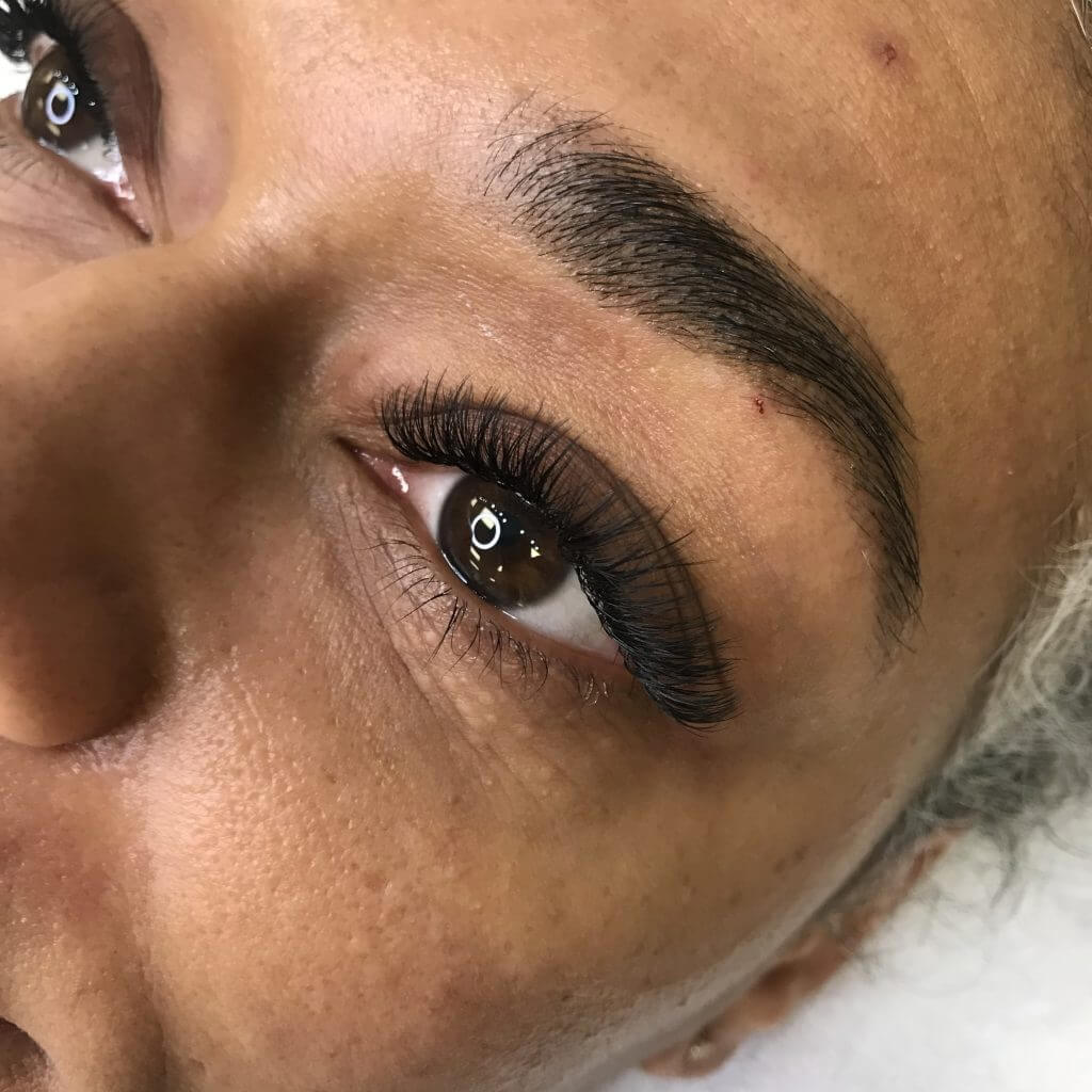 Hybrid Eyelash Extensions, Eyebrow Lamination